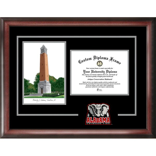 NCAA Spirit Graduate Diploma with Campus Images Lithograph Picture Frame by Campus Images