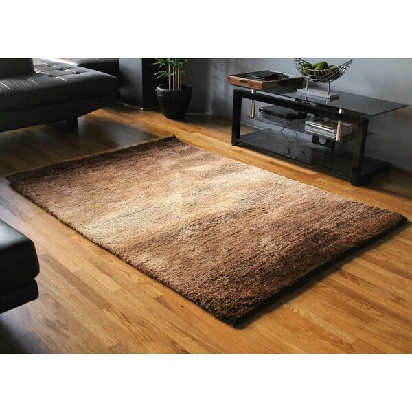 Fading Light Gradated Shag Beige/Brown Area Rug by Blazing Needles