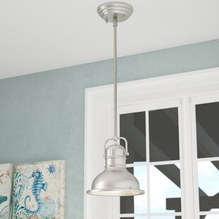 Shop For Maleah 1-Light Dome Pendant By Breakwater Bay