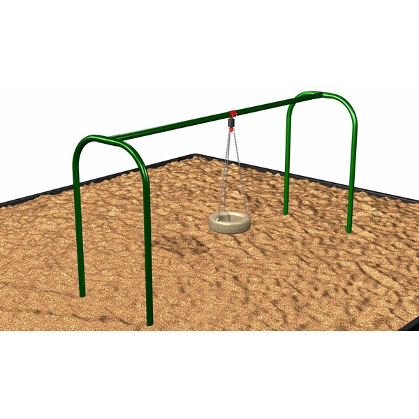 Arched Tire Swing Set by Kidstuff Playsystems, Inc