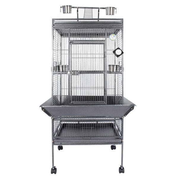 Parrot Playtop Finich Perches Ladder Bird Cage with Casters by Fur Family