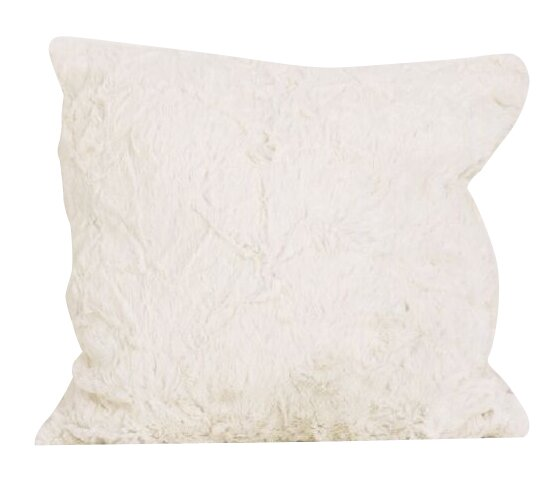 Faux Rabbit Fur Throw Pillow by Cotton Tale