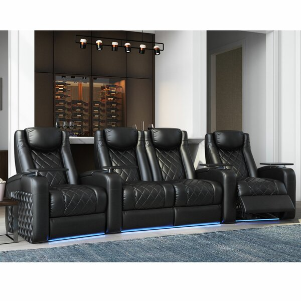 Azure HR Series Curved Home Theater Loveseat (Row Of 4) By Red Barrel Studio