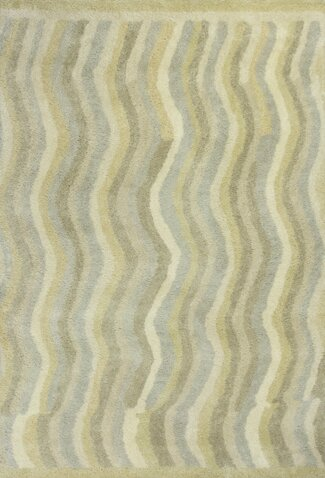 Lubin Waves Tan Area Rug by Red Barrel Studio