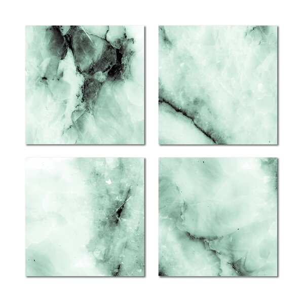 6 x 6 Beveled Glass Field Tile in Green by Upscale Designs by EMA