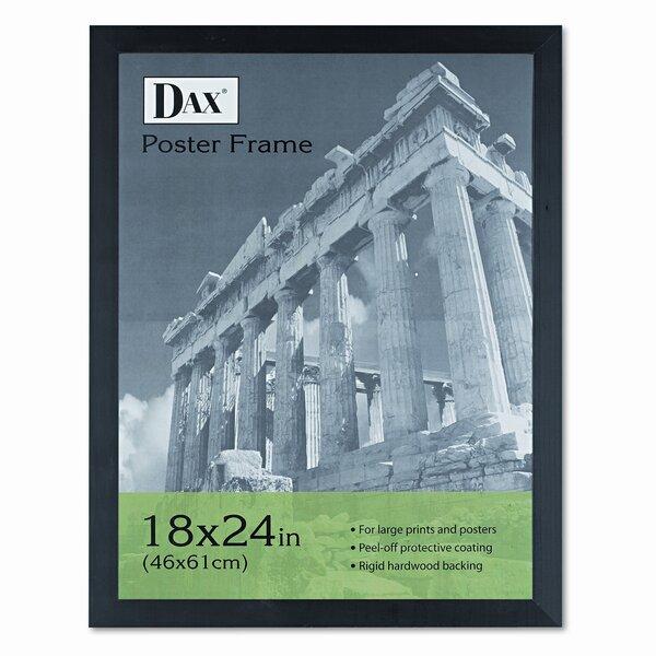 Dominque Black Plastic Poster Frame with Plexiglas Window, Wide Profile, 18 x 24 by Red Barrel Studio