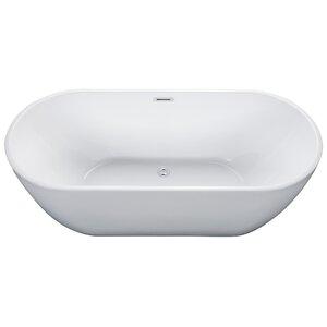 Oval Acrylic 67″ x 30″ Freestanding Soaking Bathtub