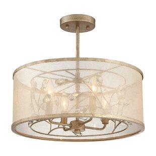 Inexpensive Alassane 4-Light Semi-Flush Mount By Willa Arlo Interiors