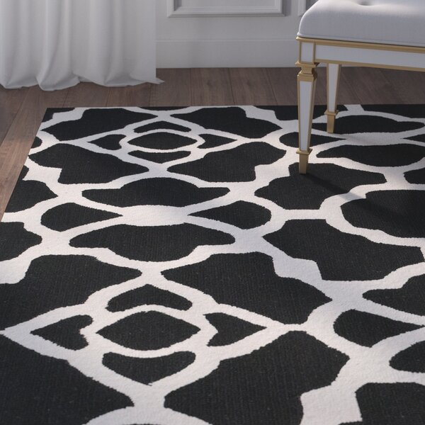 Alcmene Hand-Tufted Black/White Area Rug by Willa Arlo Interiors