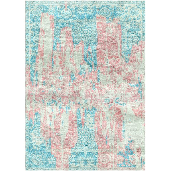 Aliza Handloom Pink/Blue Area Rug by Bungalow Rose
