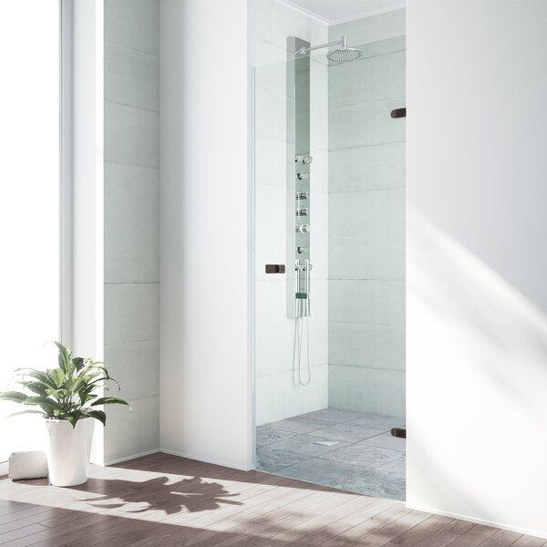 Tempo 30.5 x 70.625 Hinged Adjustable Frameless Shower Door by VIGO