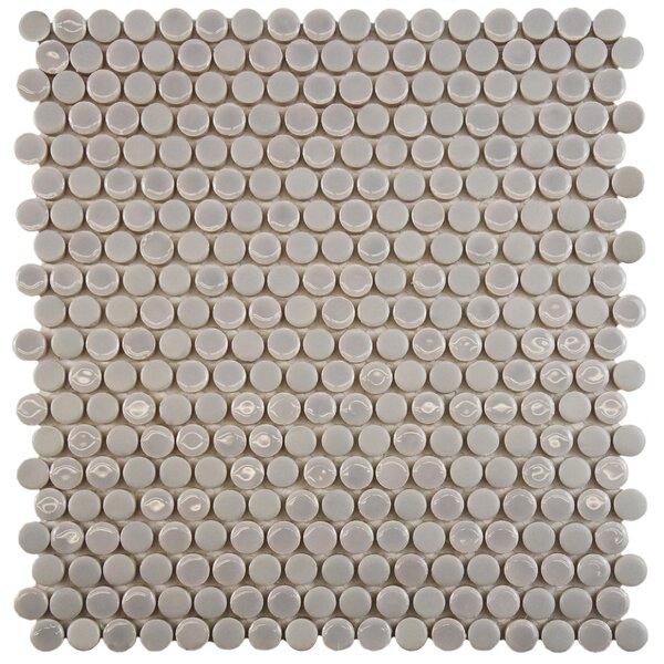 Astraea 0.62 x 0.62 Porcelain Mosaic Tile in Ash by EliteTile