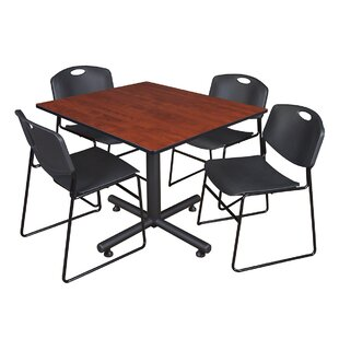 Marin 48 Square 5 Piece Breakroom Table and Chair Set BySymple Stuff