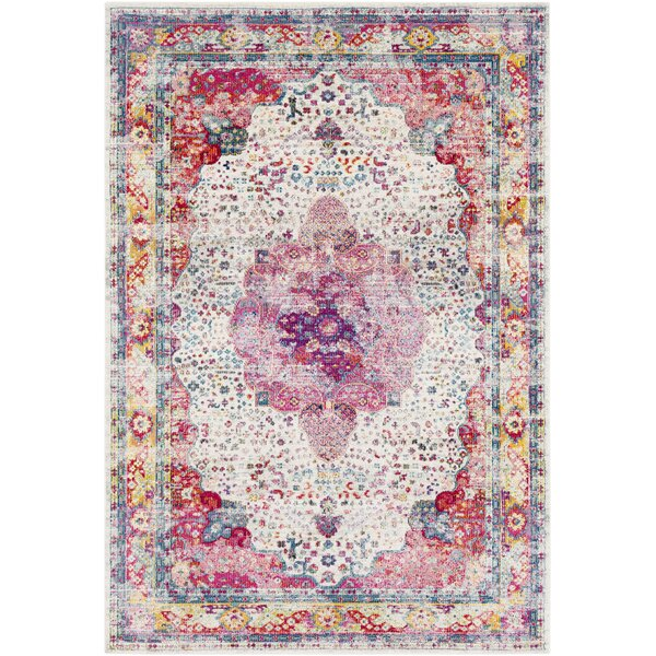 Tillamook Rose/Beige Area Rug by Bungalow Rose
