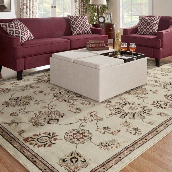 Brownville Beige Area Rug by Three Posts