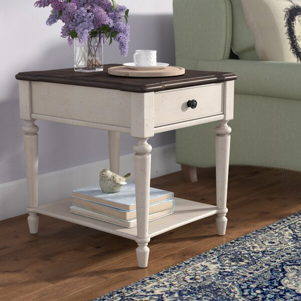 Ornithogale Rectangular End Table by Lark Manor