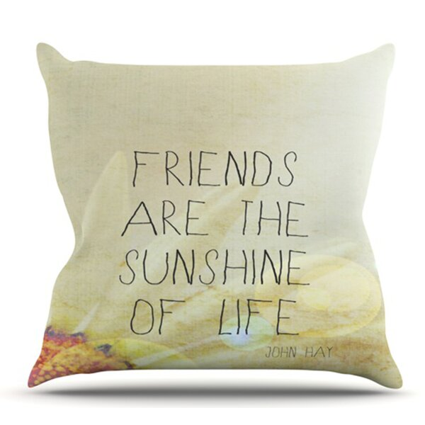 Friends and Sunshine by Rachel Burbee Outdoor Throw Pillow by East Urban Home