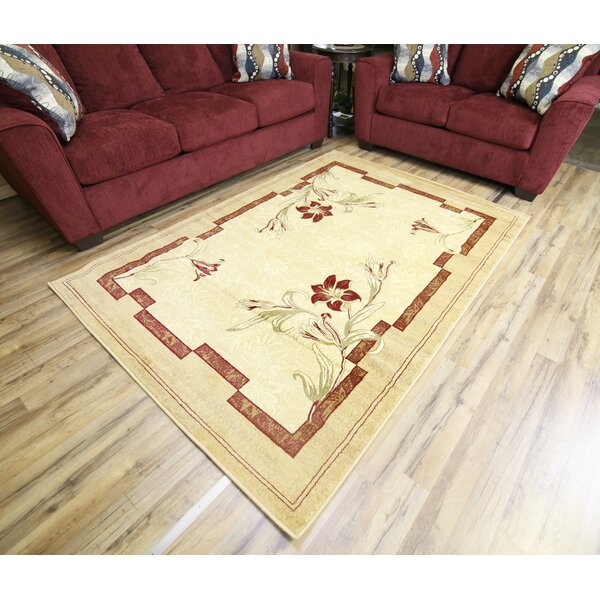 Passion Cream/Beige Area Rug by Beyan Signature