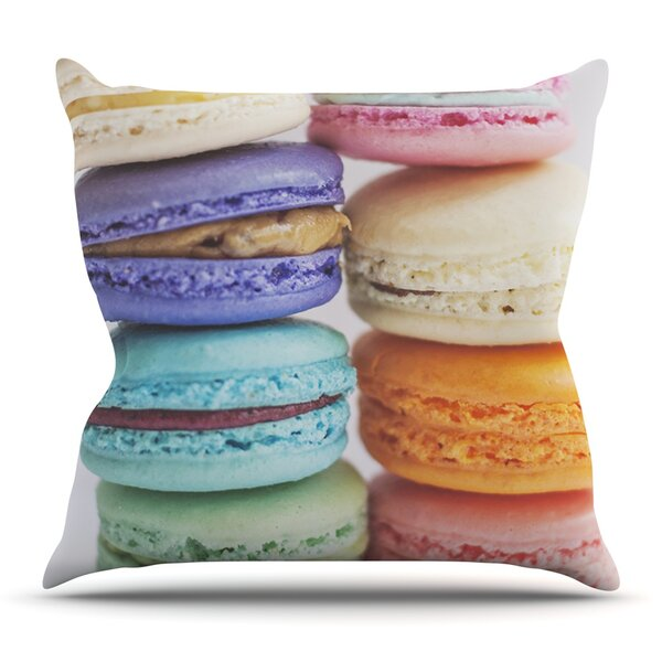 I Want Macaroons by Libertad Leal Outdoor Throw Pillow by East Urban Home