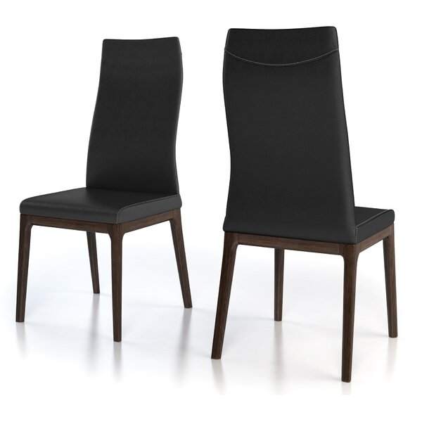 Huang Genuine Leather Upholstered Solid Wood Side Chair (Set of 2) by 17 Stories 17 Stories