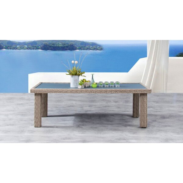 Soto Glass Dining Table by Bayou Breeze