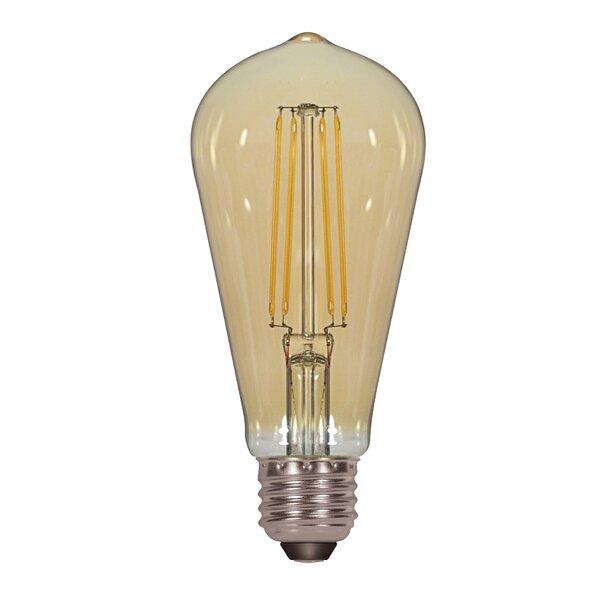 5W Amber E26 Medium LED Vintage Filament Light Bulb (Set of 6) by Satco