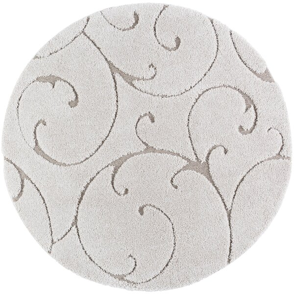 Edda Scrollwork Scatter Cream Area Rug by Darby Home Co