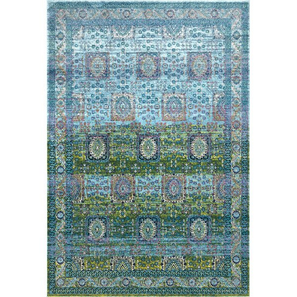 Viborg Blue/Green Area Rug by Bloomsbury Market