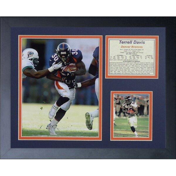 Terrell Davis Framed Memorabilia by Legends Never Die