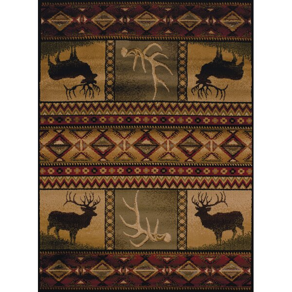 Sayre Lodge Ivory Area Rug by Loon Peak