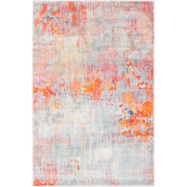 Montross Gray/Orange Area Rug by Williston Forge