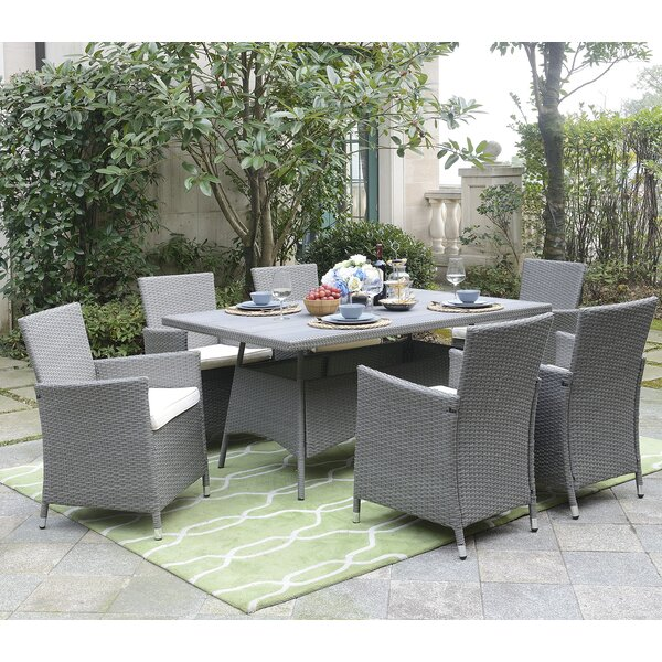 Harris 7 Piece Dining Set by Rosecliff Heights