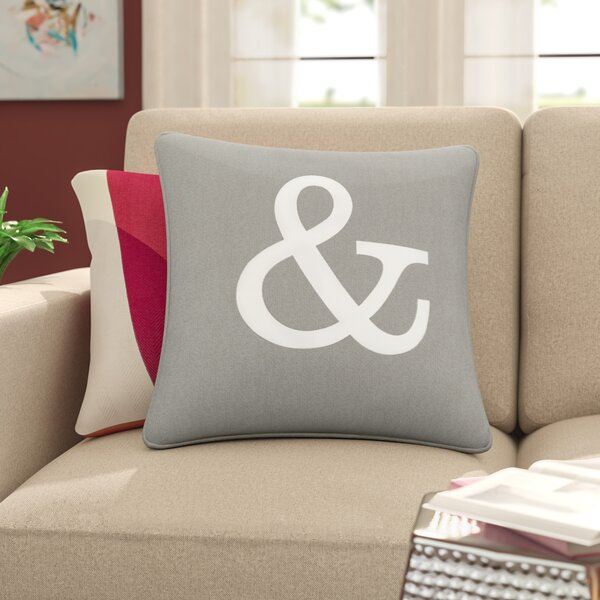Carnell Ampersand Cotton Throw Pillow Cover by Mercury Row