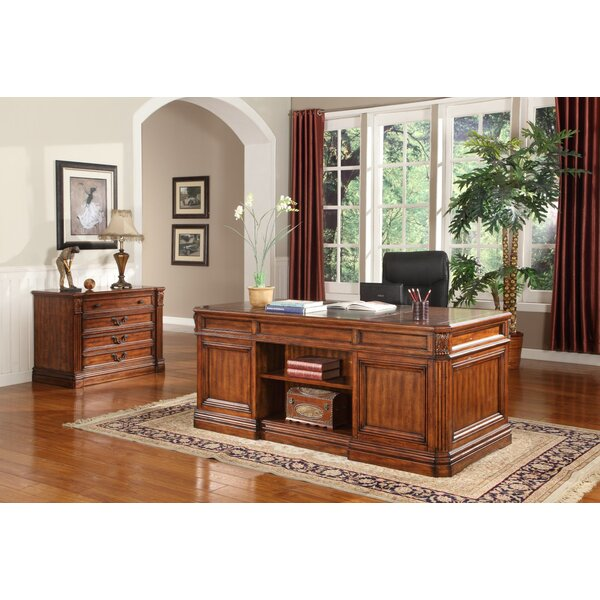 Gunnersbury 2 Piece Desk Office Suite by Astoria Grand