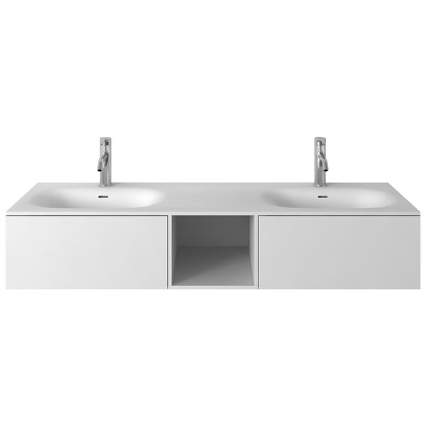 Pierce 59 Wall-Mounted Double Bathroom Vanity Set by George Oliver