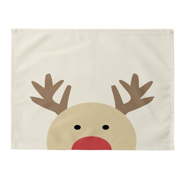 Reindeer Placemat (Set of 4) by East Urban Home