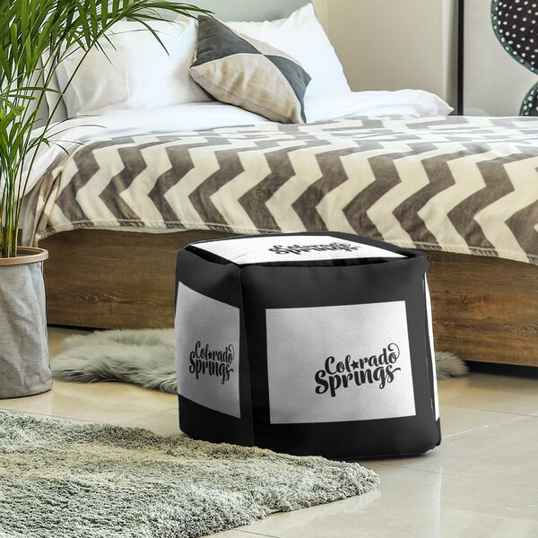Colorado Springs Colorado Cube Ottoman by East Urban Home East Urban Home