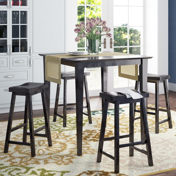 Elizabet 5-Piece Counter Height Pub Set by Red Barrel Studio Red Barrel Studio