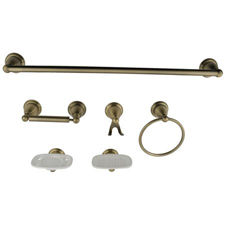 Victorian 6 Piece Bathroom Hardware Set by Kingston Brass