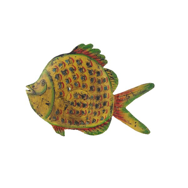 Tulane Eclectic Distressed Fish Metal Figurine by Bay Isle Home