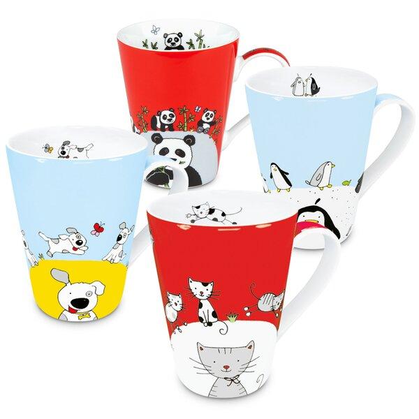 Animals 4 Piece Coffee Mug Set by East Urban Home