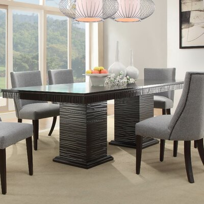 8 seat kitchen dining tables you 39 ll love wayfair. Black Bedroom Furniture Sets. Home Design Ideas