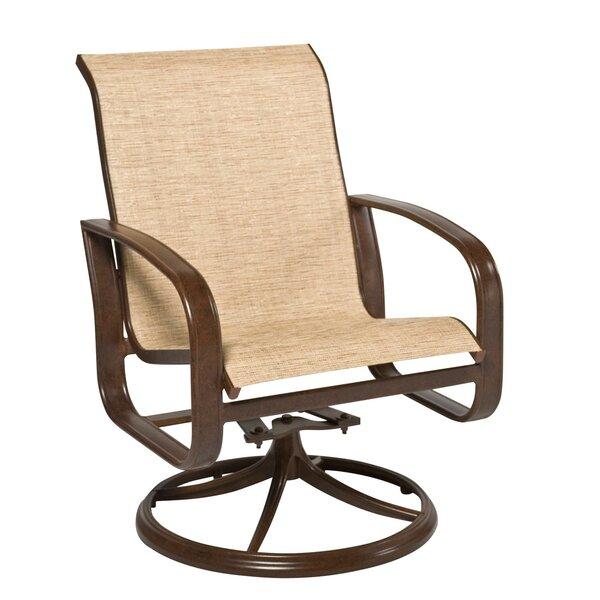Cayman Isle Swivel Patio Dining Chair by Woodard
