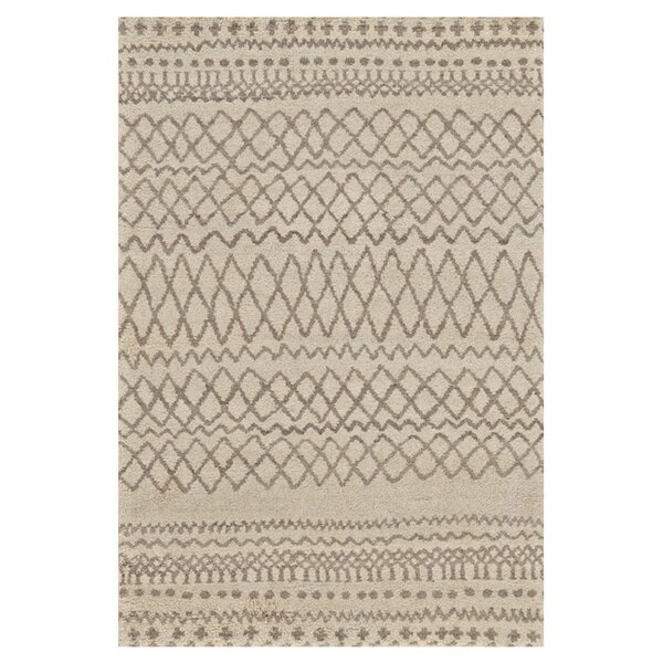 Oliver Hand-Knotted Natural/Ivory Area Rug by Bungalow Rose