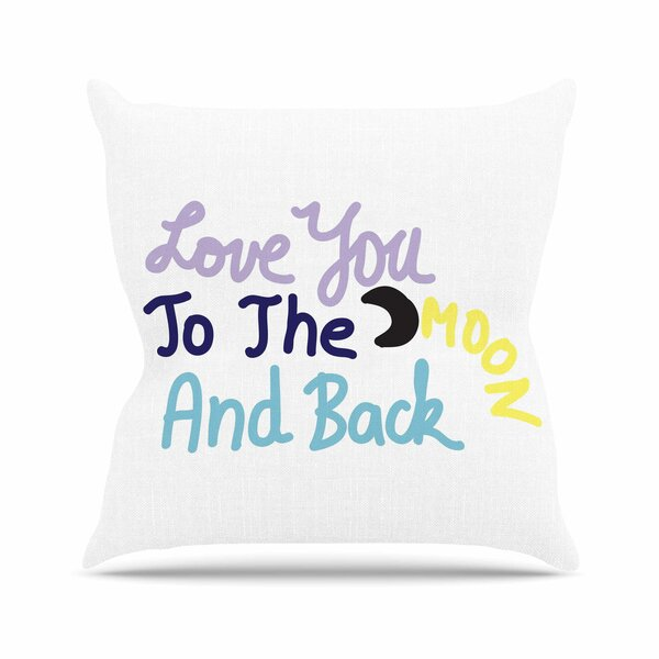 Vasare Nar Love You to the Moon and Back Vector Outdoor Throw Pillow by East Urban Home