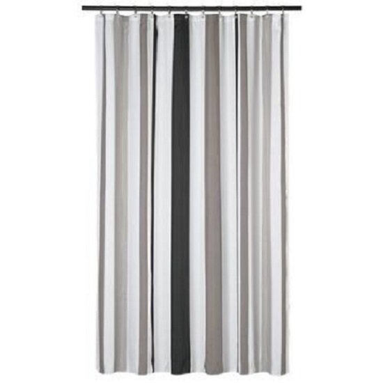Driftwood Stripes Shower Curtain by Ebern Designs