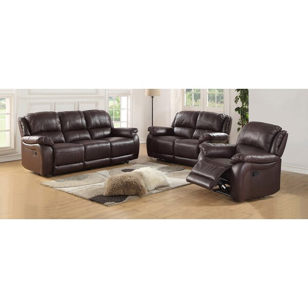New High-quality Juan Leather Reclining Loveseat by Latitude Run by Latitude Run