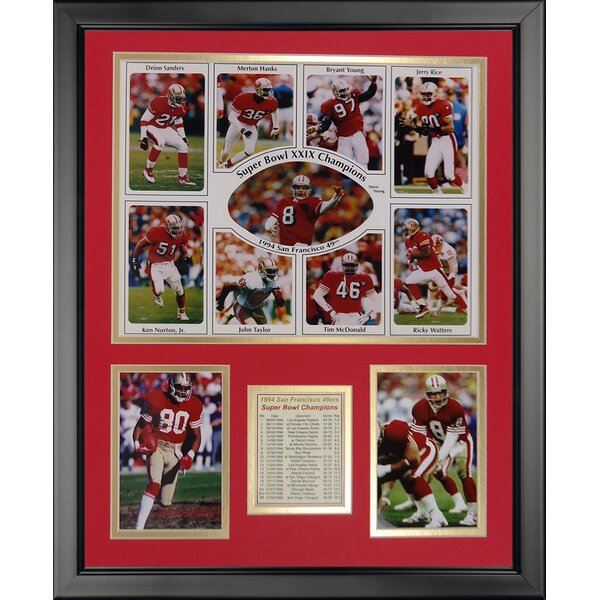 NFL San Francisco 49ers - 1994 Champs Framed Memorabili by Legends Never Die