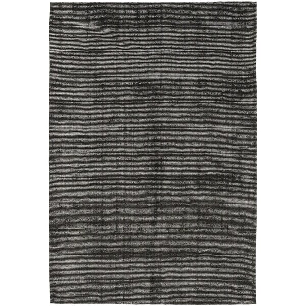 One-of-a-Kind Elam Hand-Knotted Wool/Silk Black Indoor Area Rug by 17 Stories