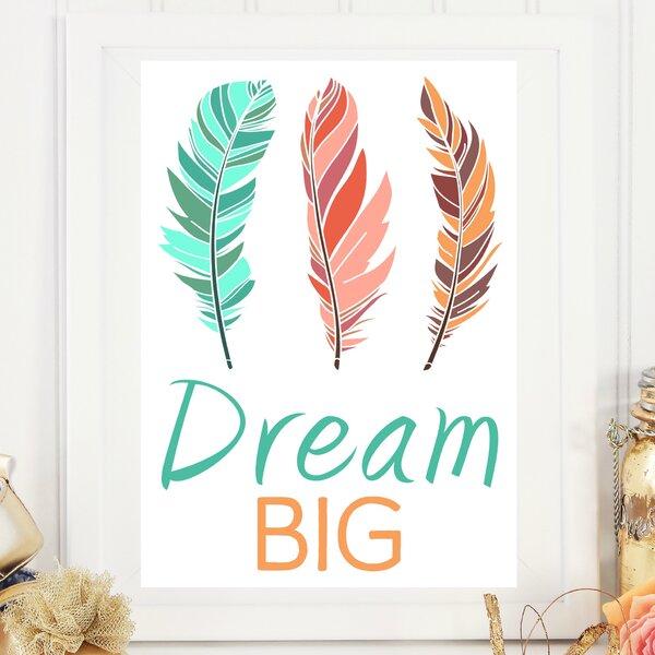 Tribal Dream Big Paper Print by Love You A Latte Shop